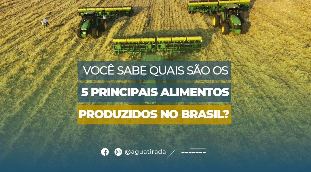 Você sabe quais são os 5 principais alimentos produzidos no Brasil ?