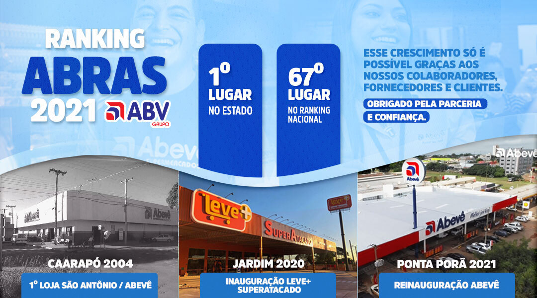 Grupo ABV é considerado a maior rede supermercadista do MS segundo a ABRAS