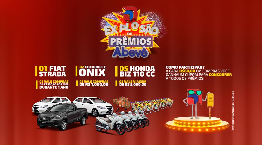 Campanha Promocional Explosão de Prêmios Abevê 2020.